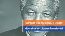 Le riunioni secondo Mandela
