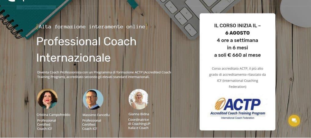 Corso di Coaching ACTP per Coach professionista